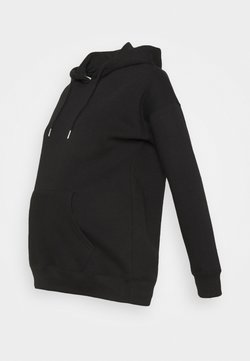 New Look Maternity - POCKET HOODIE - Jersey con capucha - black