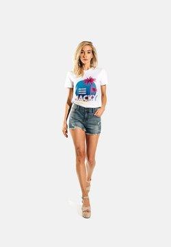 Jacky Luxury - PARADISE - T-shirt print - white
