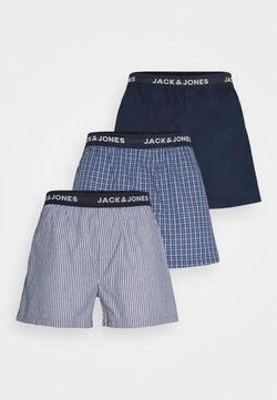 Jack & Jones - JACCHECK 3 PACK - Boxershorts - dress blues/light grey melange