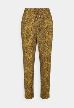 Marks & Spencer London - ANIMAL TAPER TROUSERS - Stoffhose - yellow