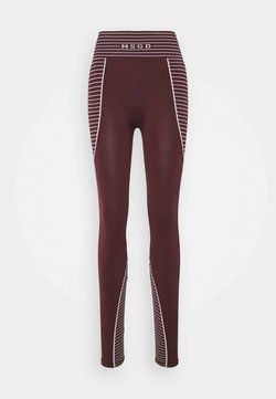 Missguided - SEAMLESS HIGH WAISTED - Legging - burgundy