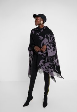 McQ Alexander McQueen - CUT UP SWALLOW - Cape - black/lilac