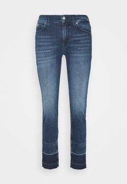 Calvin Klein - MID RISE ANKLE PANT - Vaqueros slim fit - rachel mid blue