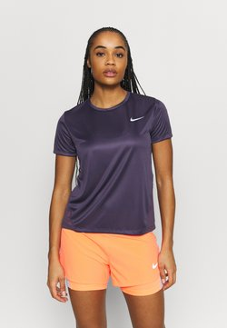 Nike Performance - MILER - T-Shirt print - dark raisin