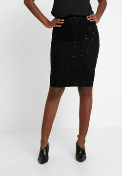 Dorothy Perkins - SEQUIN PULL ON PENCIL SKIRT - Pencil skirt - black