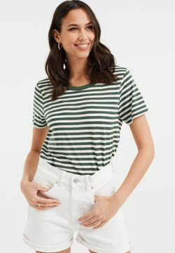 WE Fashion - T-Shirt print - dark green