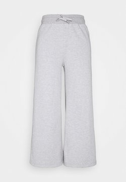 Even&Odd - Wide leg cropped Joggers - Jogginghose - mottled light grey