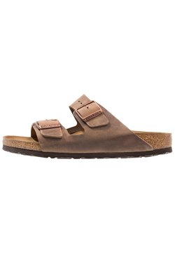 Birkenstock - ARIZONA  NARROW FIT - Pantolette flach - tabacco brown