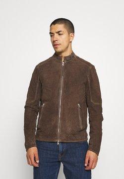 AllSaints - GRANTHAM JACKET - Leather jacket - light taupe