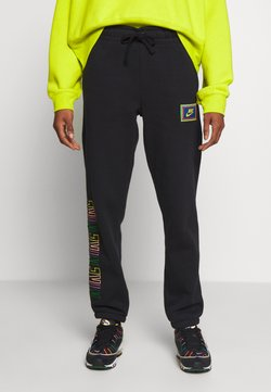 Nike Sportswear - PEACE PACK PANT - Jogginghose - black/green spark