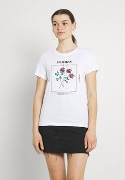 ONLY - ONLKITA LIFE REGULAR ROSE BOX - T-shirt con stampa - bright white