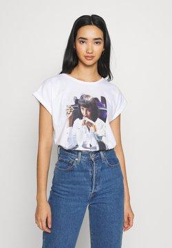 Dedicated - VISBY  YUMMY - T-Shirt print - white