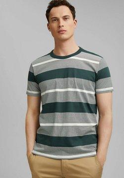 Esprit - STRIPED  - T-Shirt print - turquoise