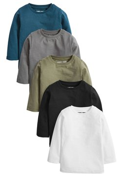 Next - 5 PACK PLAIN - Longsleeve - black