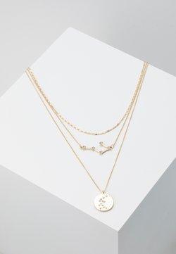 Pieces - PCSTAR COMBI NECKLACE - Necklace - gold-coloured