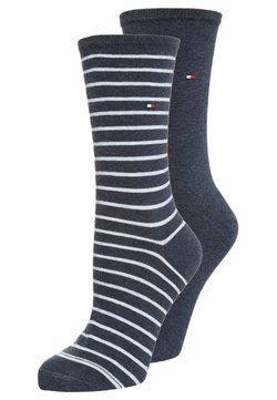 Tommy Hilfiger - WOMEN SMALL STRIPE 2 PACK - Socken - jeans