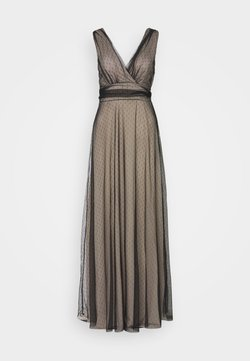 WAL G. - OVER LAY DRESS - Occasion wear - black/nude