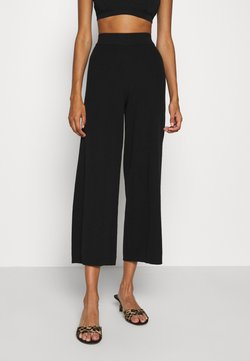 ONLY - ONLLINA CULOTTE PANT - Stoffhose - black