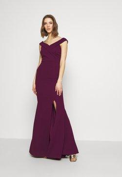 WAL G. - BARDOT  - Suknia balowa - plum