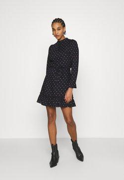 Miss Selfridge - DITSY SMOCK DRESS - Freizeitkleid - black