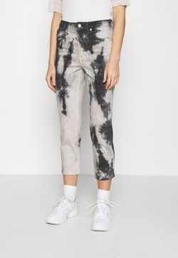 Topshop - TIEDYE - Jeans Relaxed Fit - black