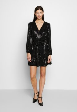 MICHAEL Michael Kors - MIRROR DOT CROSS OVER DRESS  - Cocktail dress / Party dress - black/silver
