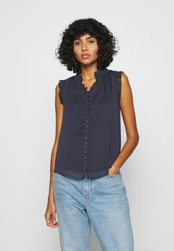 Forever New - SHIRRING TANK - Blouse - navy