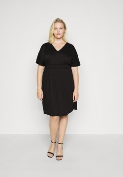 Vero Moda Curve - VMRITA SMOCK DRESS - Freizeitkleid - black