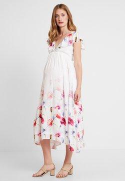 True Violet Maternity - TRUE HI LOW MIDAXI DRESS WITH FRILLS - Maxi-jurk - ombre cream