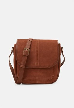 Zign - LEATHER - Torba na ramię - cognac