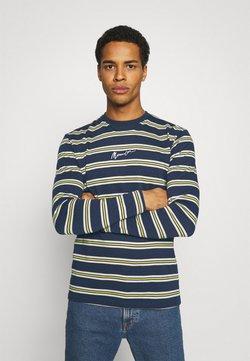 Mennace - CLASSIC HORIZONTAL STRIPE UNISEX - T-shirt à manches longues - navy