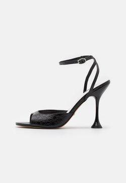 Topshop - RANDAL SKINNY  - Sandaalit nilkkaremmillä - black