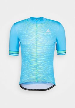 ODLO - STAND UP COLLAR FULL ZIP - T-shirt med print - horizon blue