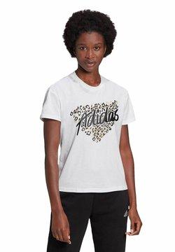adidas Performance - LEOPARD GRAPHIC - T-Shirt print - weiss