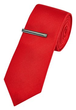 Next - TEXTURED WITH CLIP - Krawatte - red