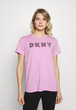 DKNY - TRACK LOGO - Printtipaita - rosebud