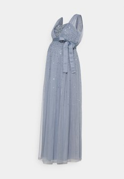 Maya Deluxe Maternity - OVERLAY BODICE EMBELLISHED DRESS - Festklänning - dusty blue