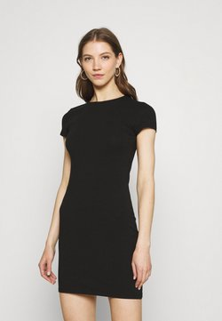Nly by Nelly - PERFECT TEE DRESS - Jerseykjoler - black