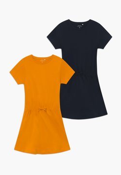 Name it - NKFVELVET 2 PACK  - Jerseykleid - cadmium yellow