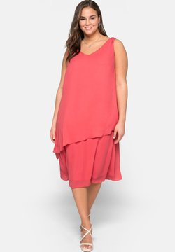 Sheego - Cocktailkleid/festliches Kleid - coral