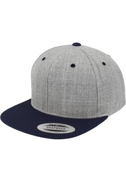 Flexfit - CLASSIC SNAPBACK 2-TONE - Cap - light grey/dark blue