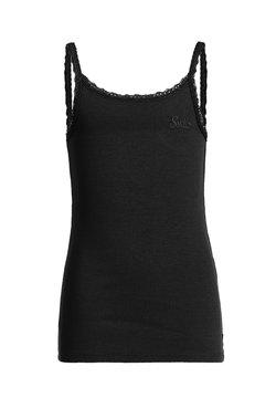 WE Fashion - MIT SPITZE - Top - black