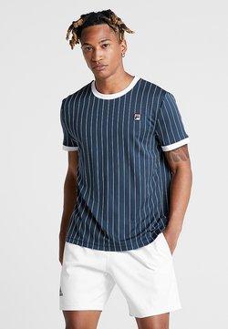 Fila - TREY - T-shirt med print - peacoat blue/white