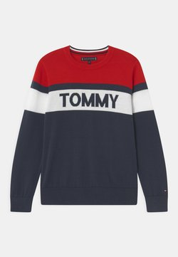 Tommy Hilfiger - COLORBLOCK  - Jersey de punto - twilight navy