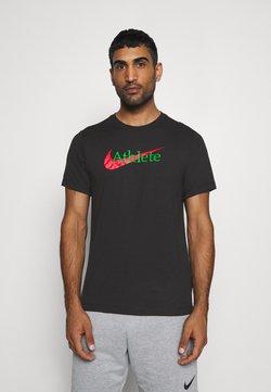 Nike Performance - TEE ATHLETE - Printtipaita - black