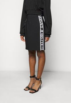Versace Jeans Couture - SKIRT LOGO TAPE - Gonna a tubino - black