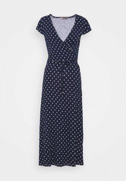 Anna Field - Short sleeves wrap belted maxi dress - Maxikleid - dark blue/white