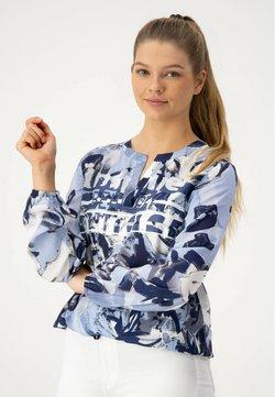 JUST WHITE - 1/1 ARM - Bluse - bleu druck