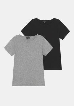 South Beach - 2 PACK UNISEX - T-shirt basic - mottled grey/black