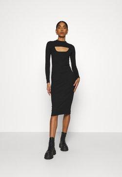 Fashion Union - FONTEYN 2-IN-1 - Vestido de tubo - black